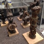 African figurines in Mount Shop ready for measuring and mount fabrication