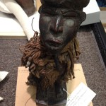 African figurine in Mount Shop ready for measuring and mount fabrication