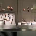 Finished artifact display at Johns Hopkins University Archeological Museum, Baltimore, MD